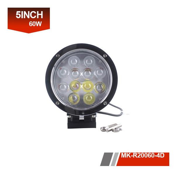5 inch 60w 4D led work light for boat