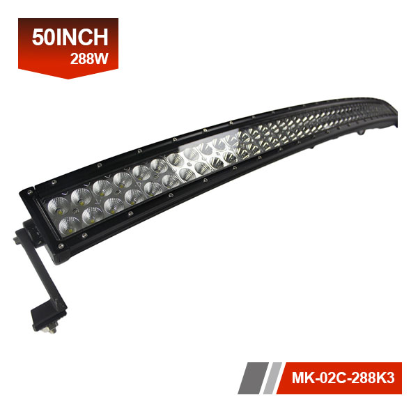50inch 288W 3D Curved Offroad LED Light Bar