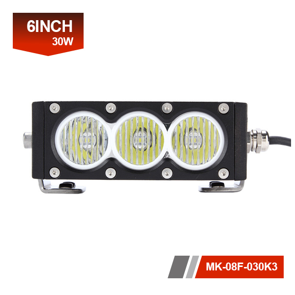 6inch 30W 3D Single Row led dash lights