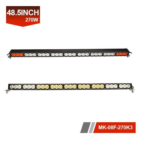 48inch 270W 3D Single Row yellow led light bar