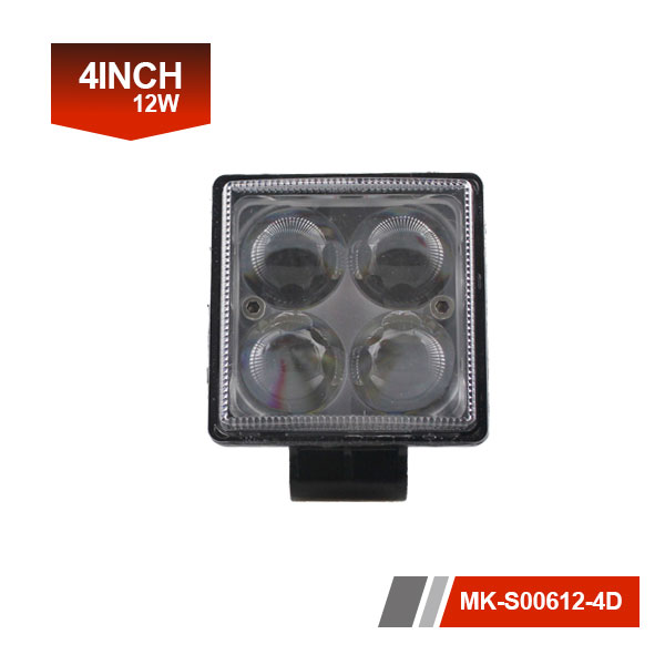 4 inch 12W 4D Led Work Light