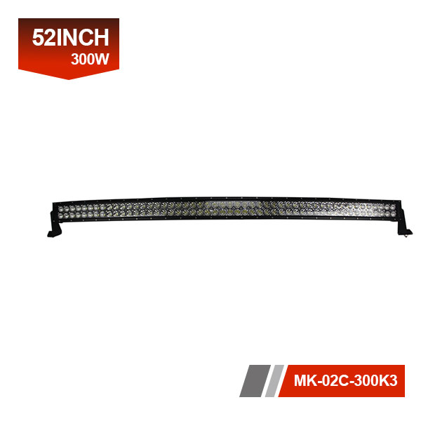 52inch 300W 3D Curved light bar