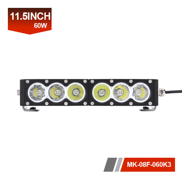11inch 60W 3D Single Row LED Light Bar