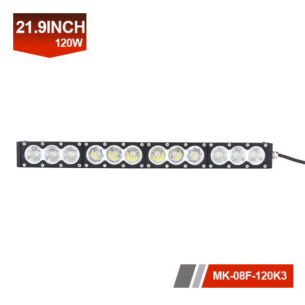22inch 120W 3D Single Row LED Light Bar