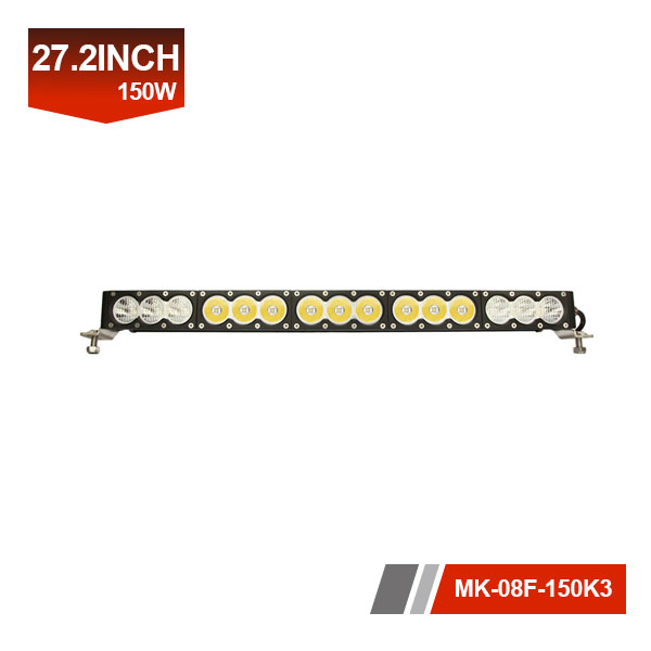27inch 150W 3D Single Row LED Light Bar