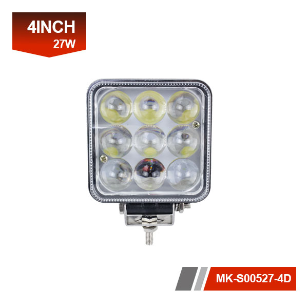4 inch 27W 4D led work light