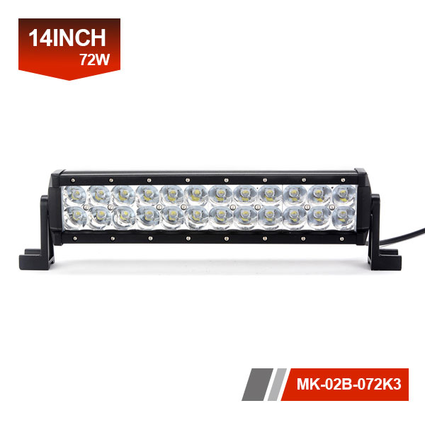 14inch 72W 3D Dual Row LED Light Bar