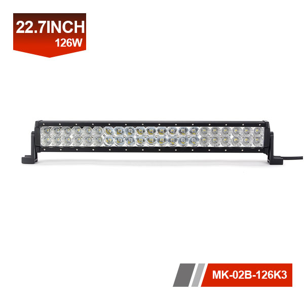 22inch 126W 3D Dual Row LED Light Bar