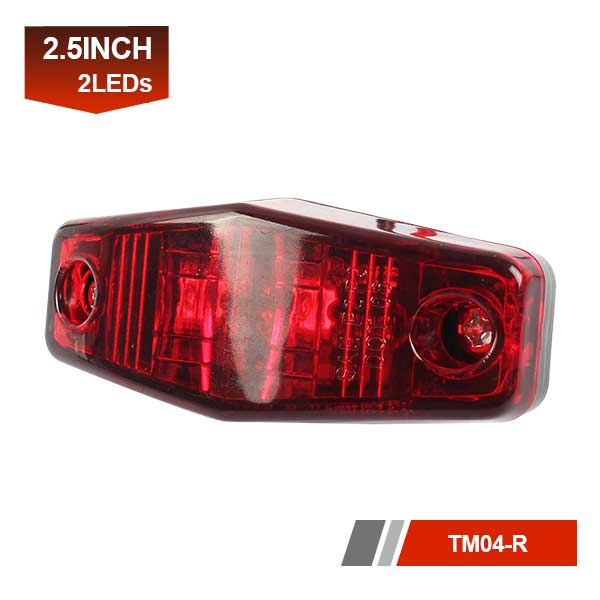 2 LEDs Trailer Clearance Light Red Amber Side Marker Light