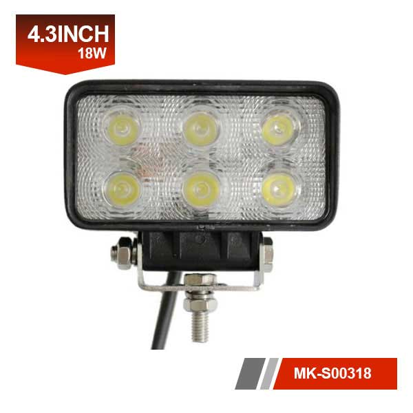 18W square led trailer light