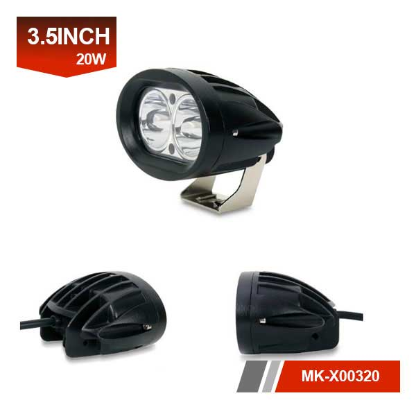oval 20w LED Auxiliary Work Lights