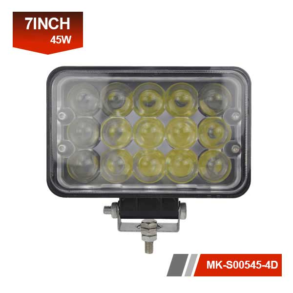 7 inch 45w 4D working lights