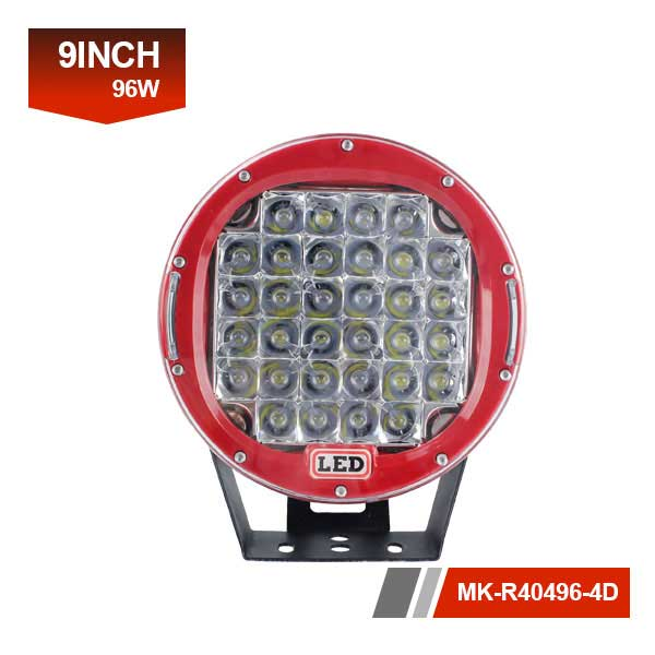 9 inch 96w 4D cob led work light