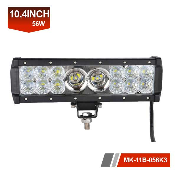 10inch 56W 3D hybrid IP67 led car light bar