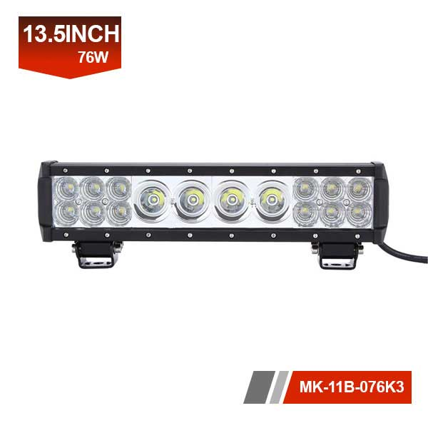 13inch 76W 3D hybrid led light bar