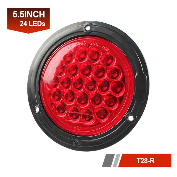 Round 24 LEDs Truck Tail Marker Lamp Reverse Rear Light