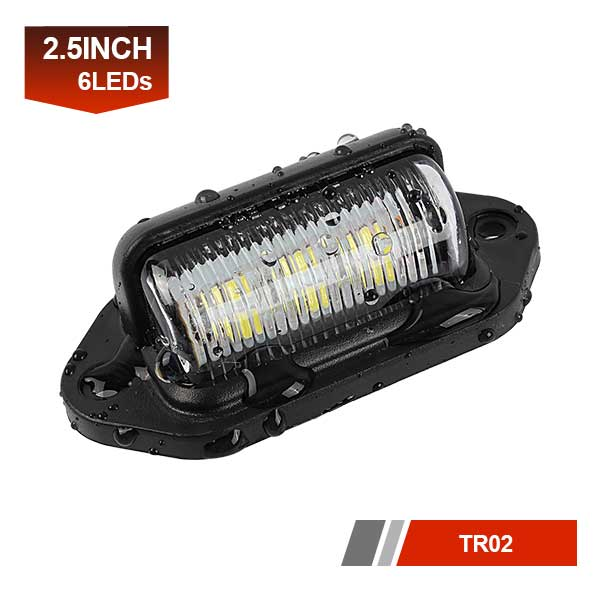 6 LEDs License Plate Light LED Truck Light