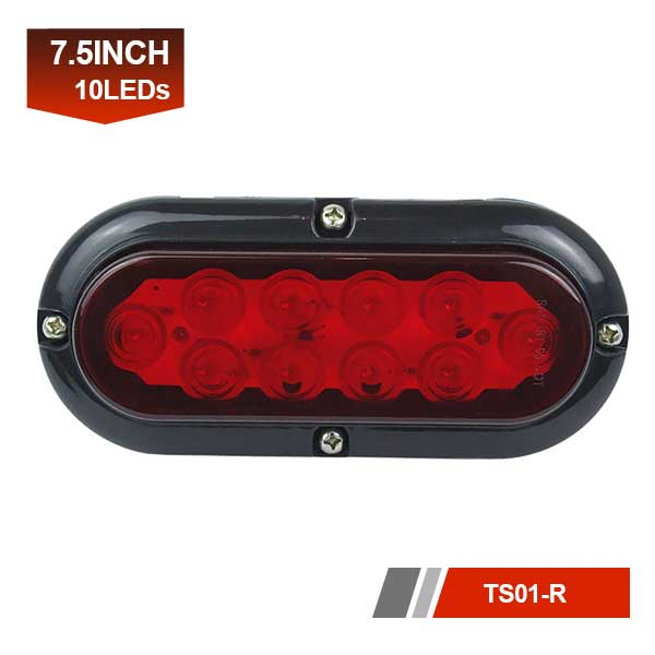 10 LEDs Oval Truck Trailer Stop Turn Tail Lights Signal Brake Lighting