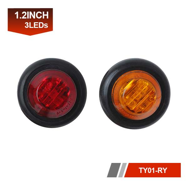 3/4 Mini Round LED Trailer Tail Lamp