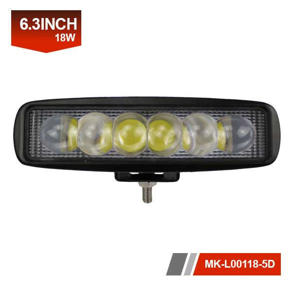 6 inch 18W5D led light bar