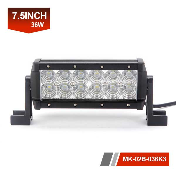 7inch 36W 3D Dual Row LED Light Bar